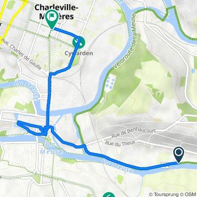 Route naar 3 Rue Pierre Bérégovoy, Charleville-Mézières