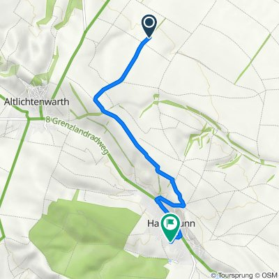 Route nach Holzlisstraße 635, Hausbrunn