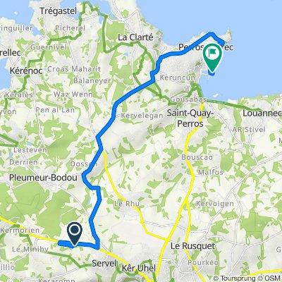 De D65, Lannion à Boulevard de la Mer, Perros-Guirec