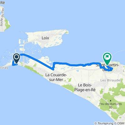 De 50 Route d'Ars, La Couarde-sur-Mer à 3 Place Eudes d'Aquitaine, Saint-Martin-de-Ré