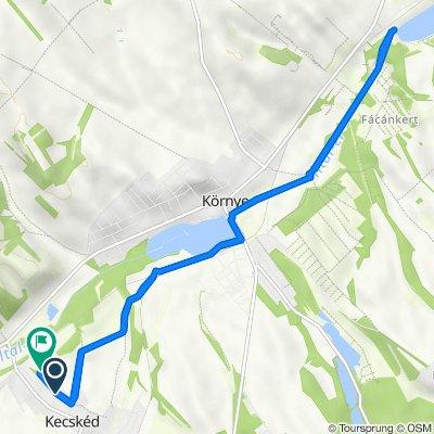 Sport utca 11., Kecskéd to Kossuth köz 7., Kecskéd