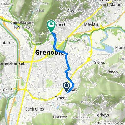 De 8 Impasse Darius Milhaud, Eybens à Chemin Jacquier, La Tronche