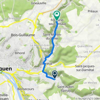 De 2 Rue de l'Église, Saint-Léger-du-Bourg-Denis à 73A Route des Sources, Fontaine-sous-Préaux