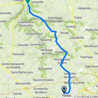 De 30 Rue du Clos des Parts, Yvetot à 28 Rue des Genêts, Cany-Barville