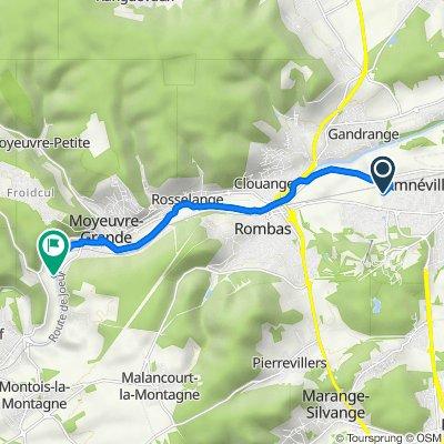 Itinéraire à partir de 13 Rue Jean-Paul II, Amnéville