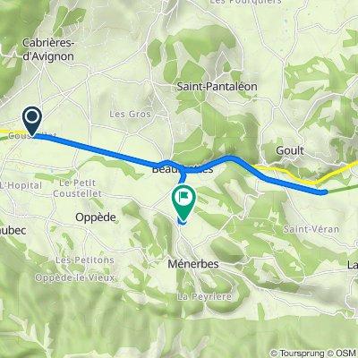 De 112–158 Chemin du Clos des Gautières, Maubec à Les Quartiers du Fort, Ménerbes