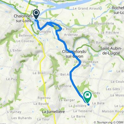 De Le Champ du Bois, Chalonnes-sur-Loire à D121, La Jumellière
