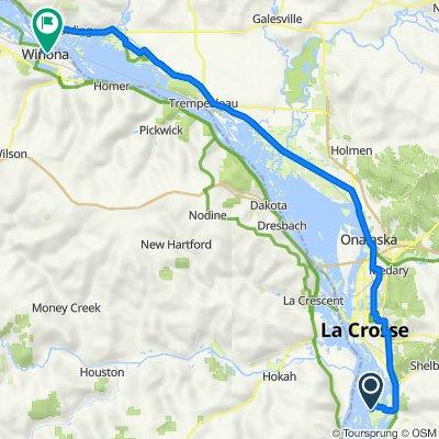 Route to 207 Lafayette St, Winona