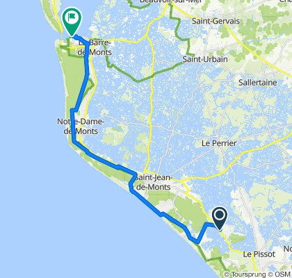 De Avenue d'Orouet 120, Saint-Jean-de-Monts à Avenue du Phare 4, La Barre-de-Monts