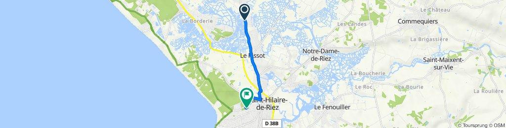 De 185 Route du Perrier, Saint-Hilaire-de-Riez à 9 Rue des Narcisses, Saint-Hilaire-de-Riez