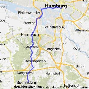 HH-Süderstrasse via Fähre nach Buchholz