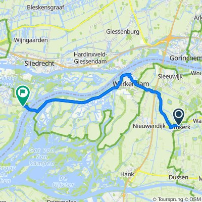 Van Hogendorpstraat 6, Almkerk naar Heerenweg 1, Dordrecht