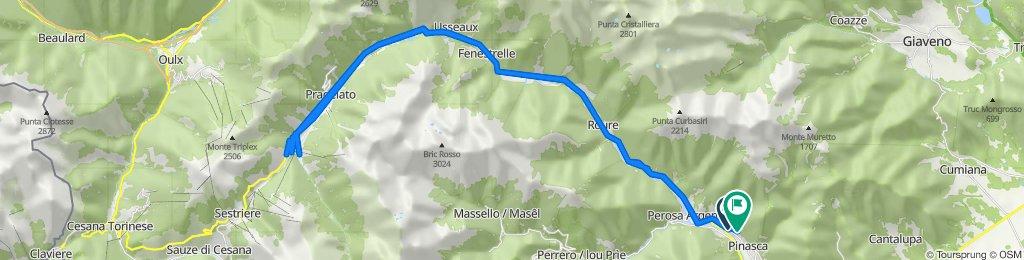 Da Via Sestriere 52, Perosa Argentina a Via Vittorio Emanuele II 34, Pinasca-dubbione