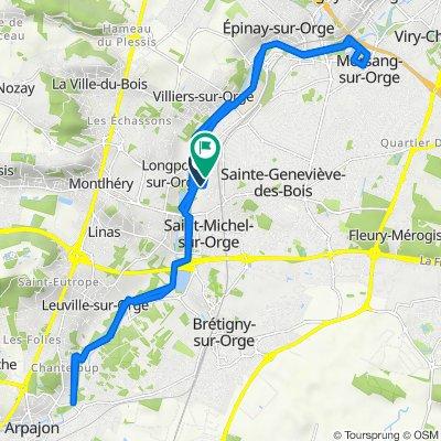 De Rue de la Source 14, Saint-Michel-sur-Orge à Rue du Haras 1, Saint-Michel-sur-Orge