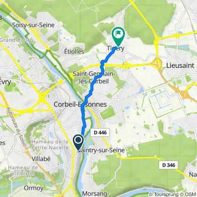 De Chemin du C.G.B., Corbeil-Essonnes à Route de Sénart, Tigery