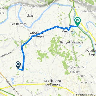 De Chemin de Goyne 1093, Castelsarrasin à Route des Rives du Tarn 580, Barry-d'Islemade