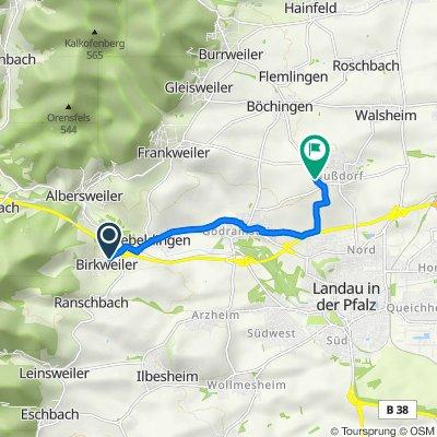 Birkenweg 1, Birkweiler nach Lindenbergstraße 67, Landau in der Pfalz