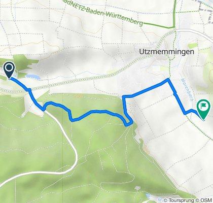 Route von Ringlesmühle 1, Riesbürg