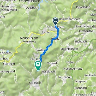 Schmiedefelder Straße 85, Schmiedefeld nach Tierberg 1, Steinach in Thüringen