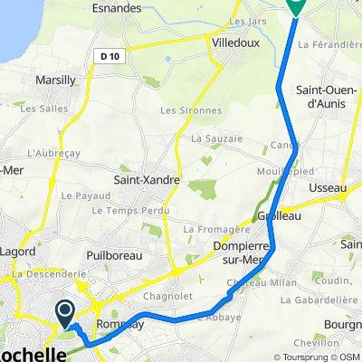 De 16 Rue d'Amboise, La Rochelle à D20, Andilly