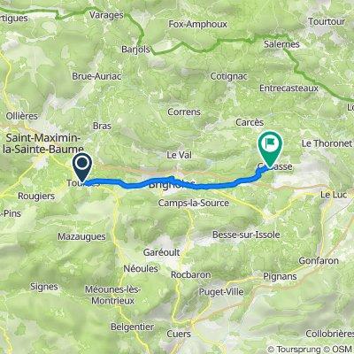 De 2 Rue Sadi Carnot, Tourves à 294 Route de Brignoles, Cabasse