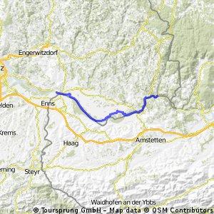 Podunají 1. den, Mauthausen - St. Nikola, 40 km