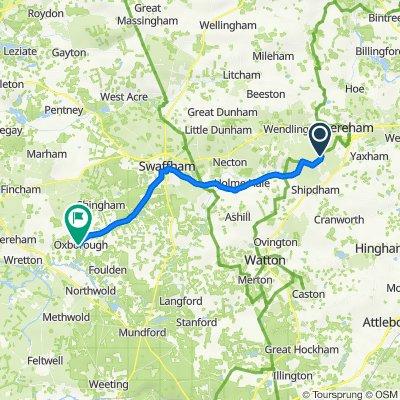 Shipdham Lane, Scarning, Dereham to Stoke Ferry Road, Oxborough, King'S Lynn