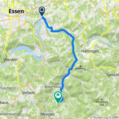 Essen-Steele nach Eckern, Alaunstr.