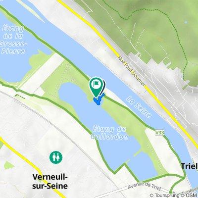 De Chemin de Halage, Verneuil-sur-Seine à Chemin de Halage, Verneuil-sur-Seine