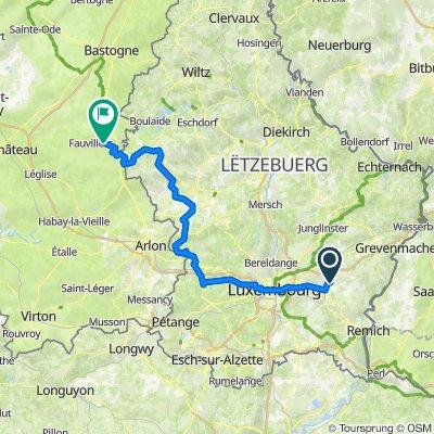 1.b Schuttrange - Martelange 80 km