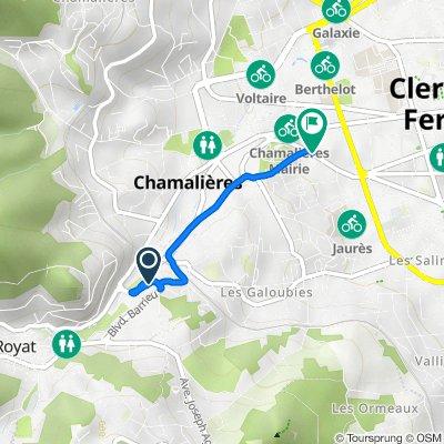 De 8 Boulevard Bazin, Royat à 6–12 Avenue Pasteur, Chamalières
