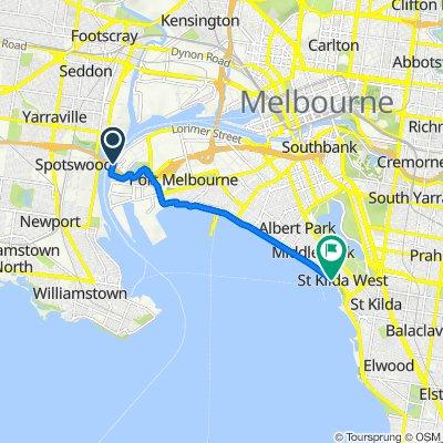 Bay Trail, Port Melbourne to Bay Trail, St Kilda West