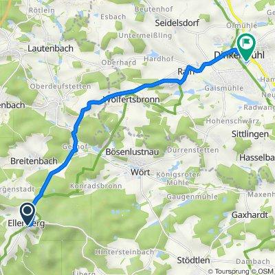 Ellenberg nach Am Brühl, Dinkelsbühl