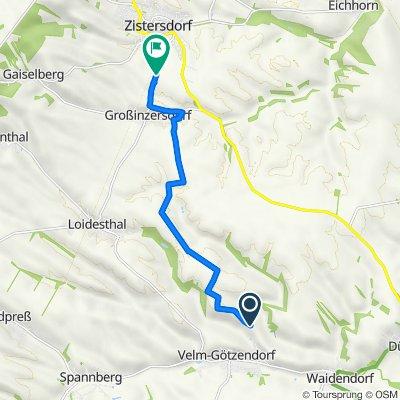 Route nach L15, Zistersdorf