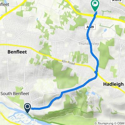 1 Ferry Road, Benfleet to 1A Weir Farm Road, Rayleigh