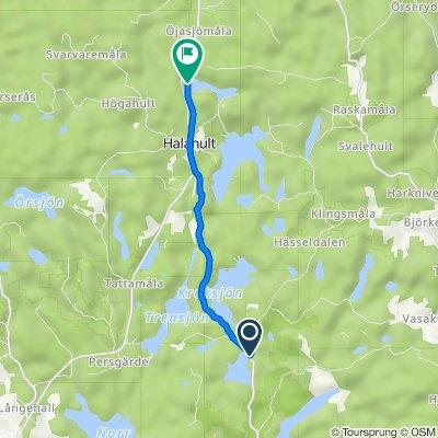 Törnerydsvägen 684, Trensum nach Gamla Halasjövägen, Trensum