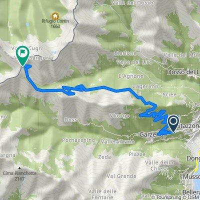 Route von Via Lombardia 19, Gravedona ed Uniti