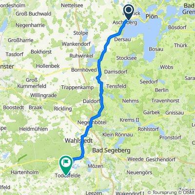 Plöner Chaussee 21, Ascheberg (Holstein) nach Dorfstraße 31, Todesfelde