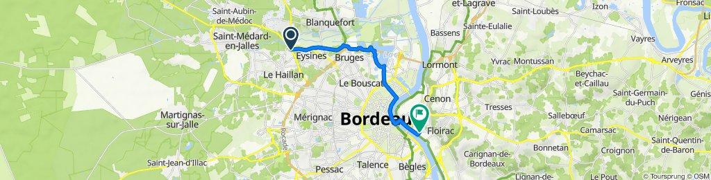 322 Avenue du Taillan-Médoc, Eysines nach 21 Impasse de la Préceinte, Bordeaux