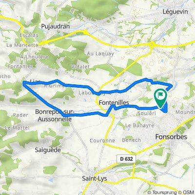 De Chemin Saint-André 12, Fonsorbes à Chemin Saint-André 12, Fonsorbes