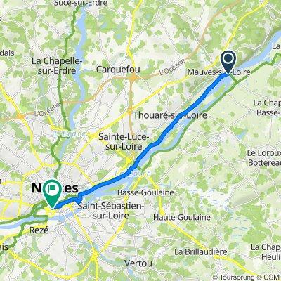 De D31, Mauves-sur-Loire à 9 Boulevard de la Prairie au Duc, Nantes