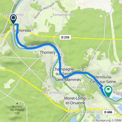 De Chemin de Halage, Samoreau à Chemin de Halage, La Grande-Paroisse