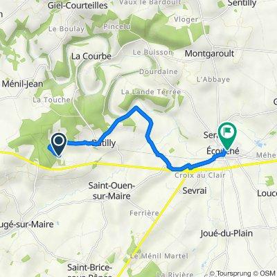 De 2 Route de l'Aunay Heudin, Lougé-sur-Maire à 3 Avenue Léon Labbé, Écouché