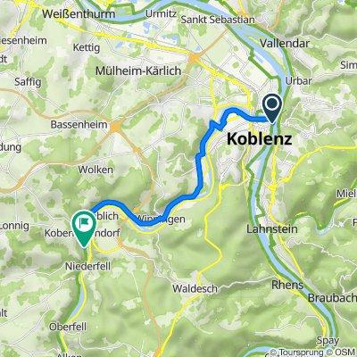 Konrad-Adenauer-Ufer, Koblenz nach Römerstraße 1, Kobern-Gondorf