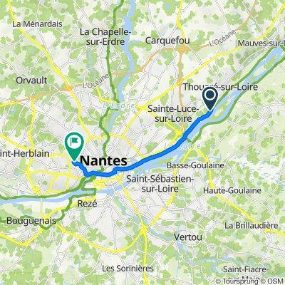 De Chemin de la Barre, Sainte-Luce-sur-Loire à 20 Rue du Calvaire de Grillaud, Nantes
