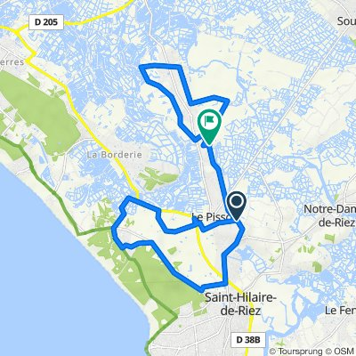 Itinéraire vers Chemin des Hommeaux 2, Saint-Hilaire-de-Riez