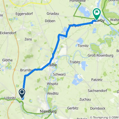 Brumbyer Straße 5, Nienburg (Saale) nach K1279 1, Barby (Elbe)