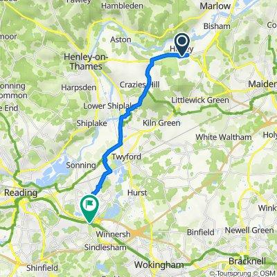 Henley Road, Hurley, Maidenhead to 3 Loddon Bridge Road, Earley, Reading