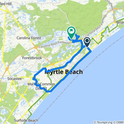 801 62nd Ave N, Myrtle Beach to 765 Dragonfly Dr, Myrtle Beach