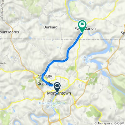 101 Fourth St, Morgantown to Caperton Trail, Point Marion